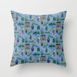 Literary Homes Throw Pillow