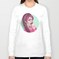 tooth Long Sleeve T-shirts featuring Sweet Tooth by Wendy Stephens