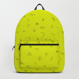 Digital Geometric Pattern Art Yellow Backpack