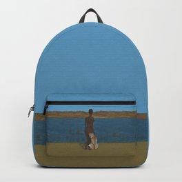 Woman & Cheetah Backpack