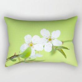 Cherry blossom tree in the green Rectangular Pillow