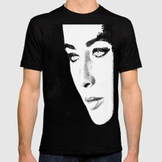 Elizabeth Taylor watercolour wash X-LARGE Black Mens Fitted Tee
