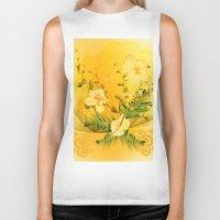 matty healy Biker Tanks featuring Wonderful soft yellow flowers by nicky2342