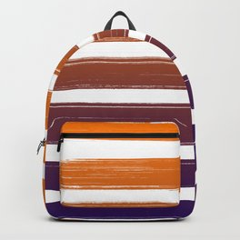 Orange-purple stripes Backpack