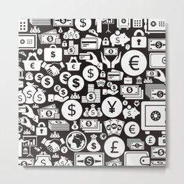 Money a background3 Metal Print