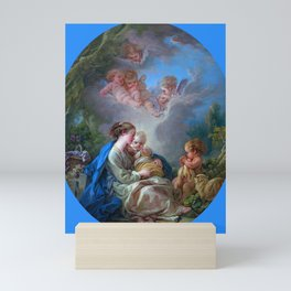 """François Boucher """"Virgin and Child with the Young Saint John the Baptist and Angels"""" Mini Art Print"""