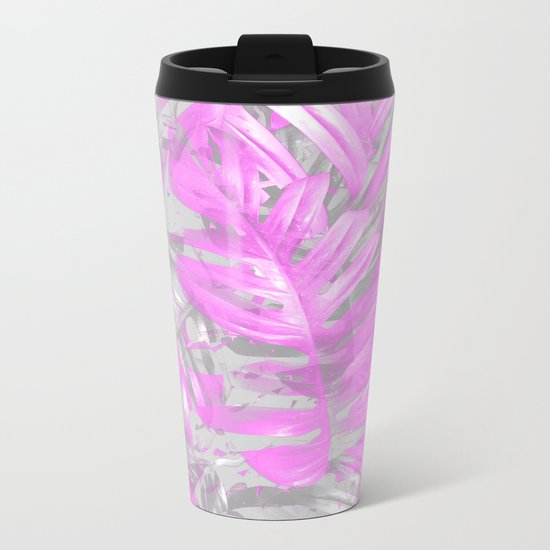 silver and musk, foliage Metal Travel Mug