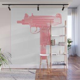 Pink machine gun Wall Mural