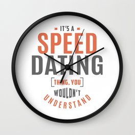 Speed Dating Thing Wall Clock