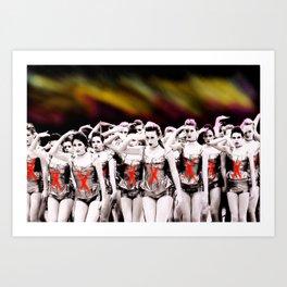 Dancers 3hree  Art Print