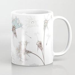 Hand drawn vector dandelions in rustic style Coffee Mug