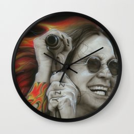 'Ozzy's Fire' Wall Clock