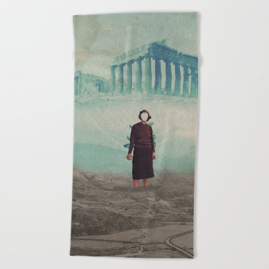 Mrs. Loneliness Beach Towel