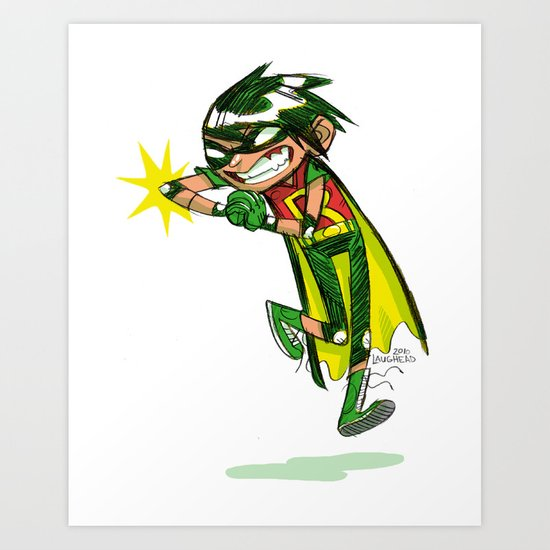 Robin, the Boy Wonder Sketch Art Print