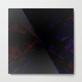 Shattered Arcade Metal Print