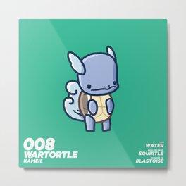 008 Wartortle Metal Print