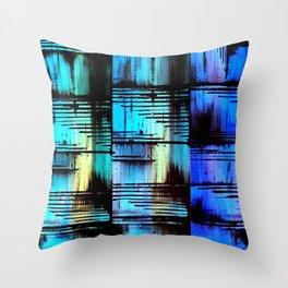 Blue Friends (7) Throw Pillow