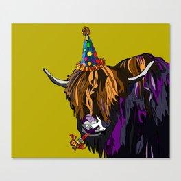 Party Yak Canvas Print