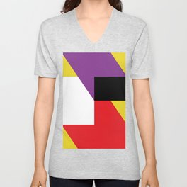 Same as before... a lot of colorful polygons, maybe a parallelepiped. Yo! Unisex V-Neck