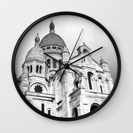 French Sacre Coeur church in Paris Wall Clock