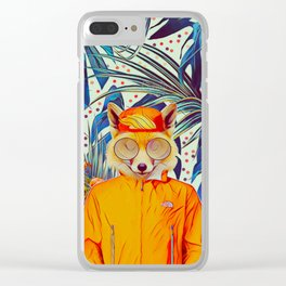 Floral foxy Clear iPhone Case