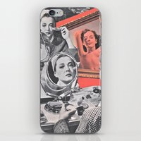 persona iPhone & iPod Skins featuring Persona - collage by Deborah Stevenson Collage Art