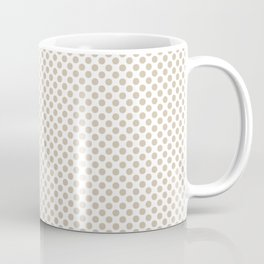 Frosted Almond Polka Dots Coffee Mug