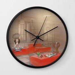 Reading Night Wall Clock