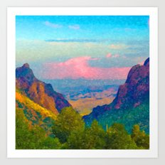 The Window at Big Bend National Park Art Print