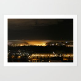 Captured and Claimed Light by the City at Night Art Print