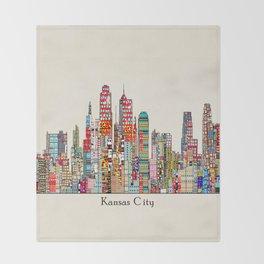 kansas city Missouri skyline Throw Blanket