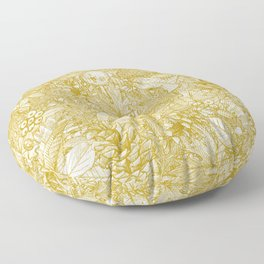 forest floor gold ivory Floor Pillow