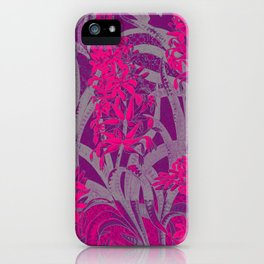Colorful PINK Flowers Wallpaper design iPhone Case