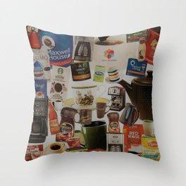 caffeinated Throw Pillow