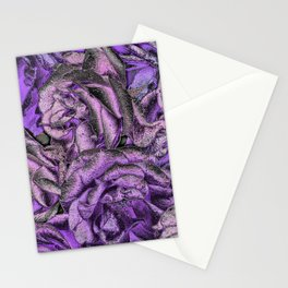 Great Garden Roses with silver dust Stationery Cards