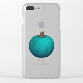 Teal Pumpkin Clear iPhone Case