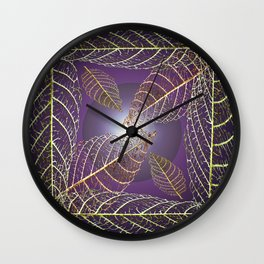 LEAVES OF THE FOUR WINDS Wall Clock