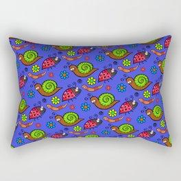 Cartoon Garden Bugs Rectangular Pillow