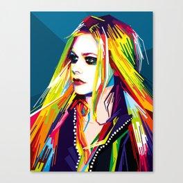 WPAP Avril Lavigne Canvas Print
