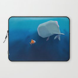 The little sperm whale and the fish Laptop Sleeve