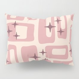 Retro Mid Century Modern Abstract Pattern 577 Dusty Rose Pillow Sham