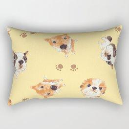 cute dog pattern Rectangular Pillow
