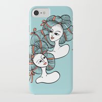 ramen iPhone & iPod Cases featuring Ramen Girls by Littlearty