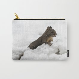 Winter Squirrel II -  Cute Wildlife Animals Nature Photography Carry-All Pouch