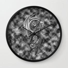 Dragon Chrome Of Dream Catcher Wall Clock