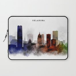 Oklahoma Watercolor Skyline Laptop Sleeve