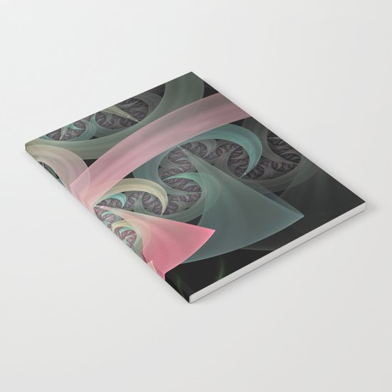 Dream Beam, fractal abstract in dreamy colors Notebook