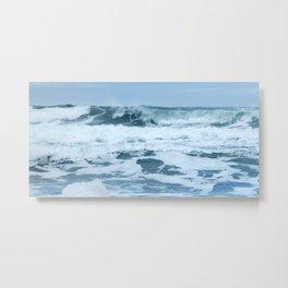 Crashing Waves in Spring Metal Print