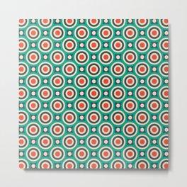 Mid Century Modern Circles Retro Bullseye Pattern Metal Print