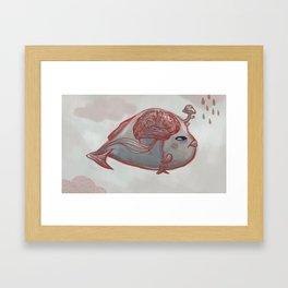 Brain Fish Framed Art Print